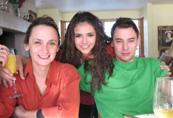 Nina with her mother and Brother