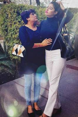 Shreya with her Mother