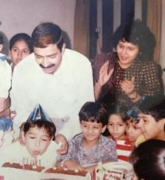 Varun with his parents
