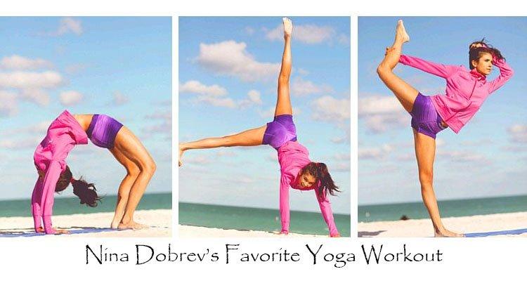 Yoga poses: Nina Dobrev