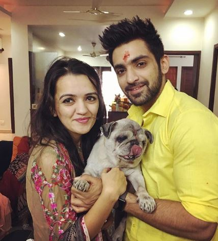 Arijit Taneja with dog