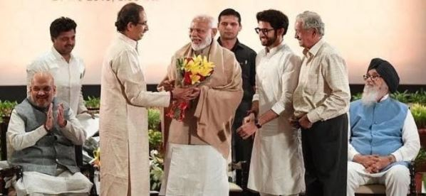 Aditya Thackeray with Narendra Modi