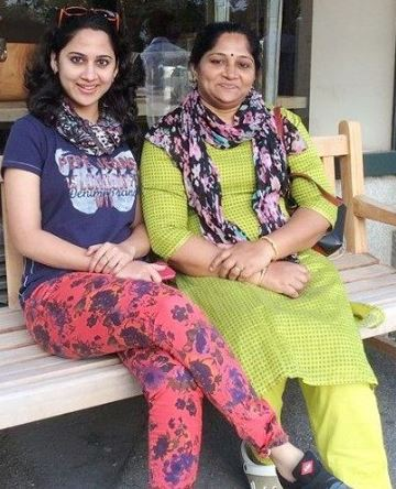 Miya George with mother