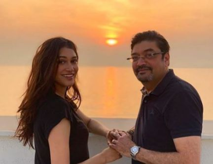 Anuja with father