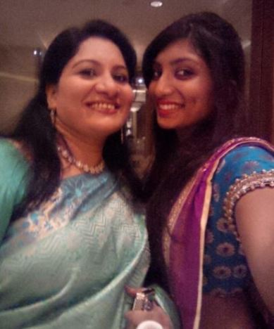 Sneha with mother