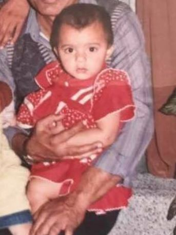A childhood photo of Ruhi