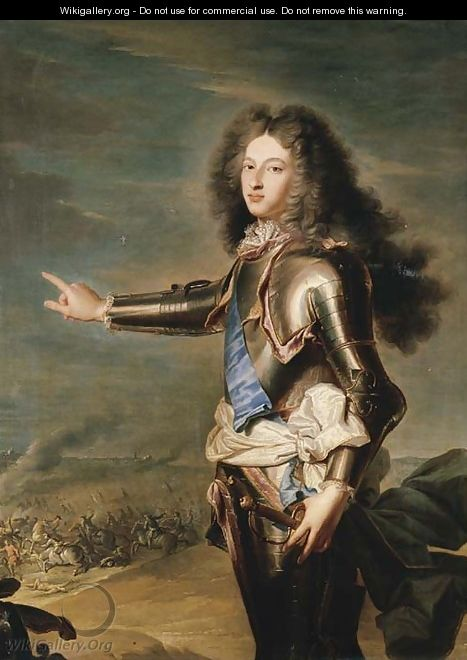 Louis De France (1682-1712) : louis, france, (1682-1712), Portrait, Louis, France,, Bourgogne, (after), Hyacinthe, Rigaud, WikiGallery.org,, Largest, Gallery, World