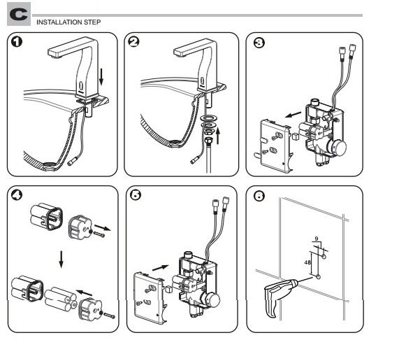 Installation Instructions for Bravat Oil Rubbed Bronze
