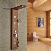Fontana Rose Gold Finished Wall Mounted Shower Panel - All ...