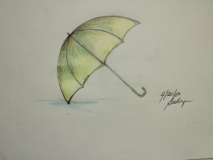 draw umbrella drawing step objects easy drawings