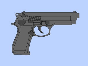 gun draw 9mm drawn hand drawing simple revolver weapon steps wikihow machine 2d step