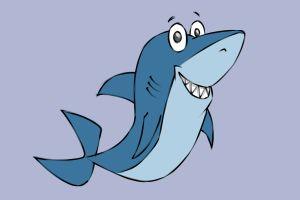 shark draw cartoon drawn ways wikihow steps line