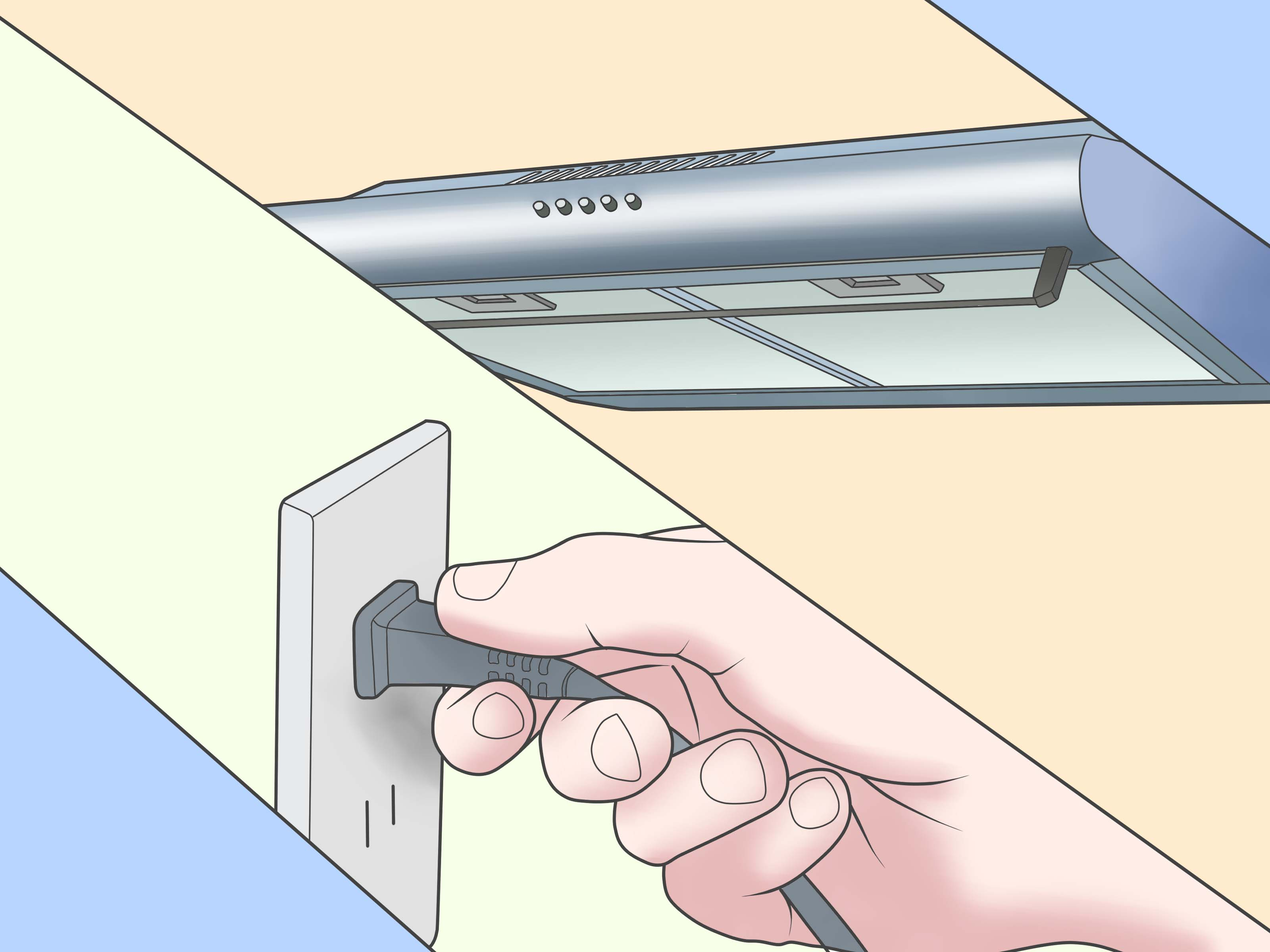 How To Install A Bathroom Exhaust Fan How To Install A Range Hood 14 Steps With Pictures Wikihow
