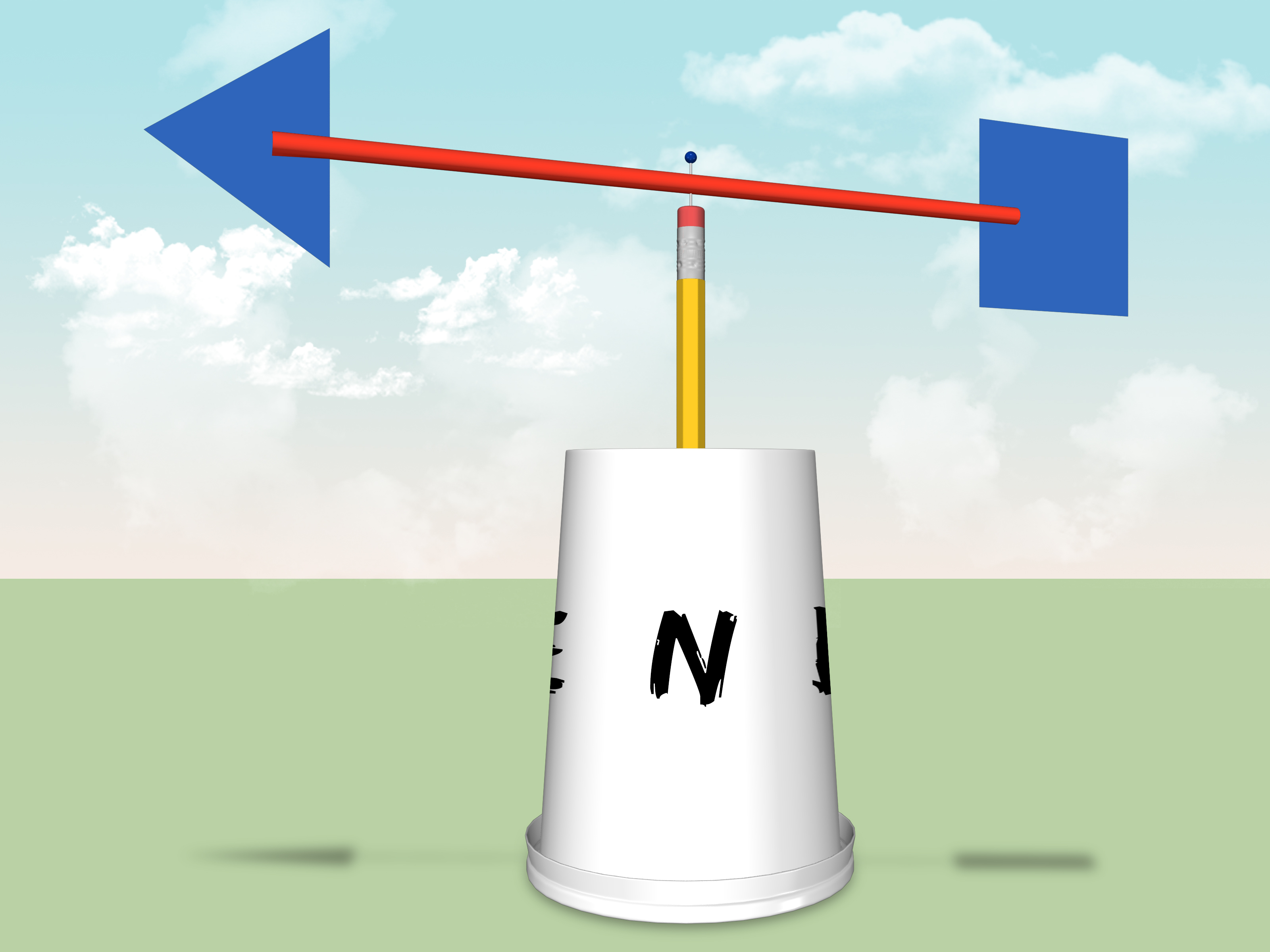 How To Make A Simple And Homemade Wind Vane
