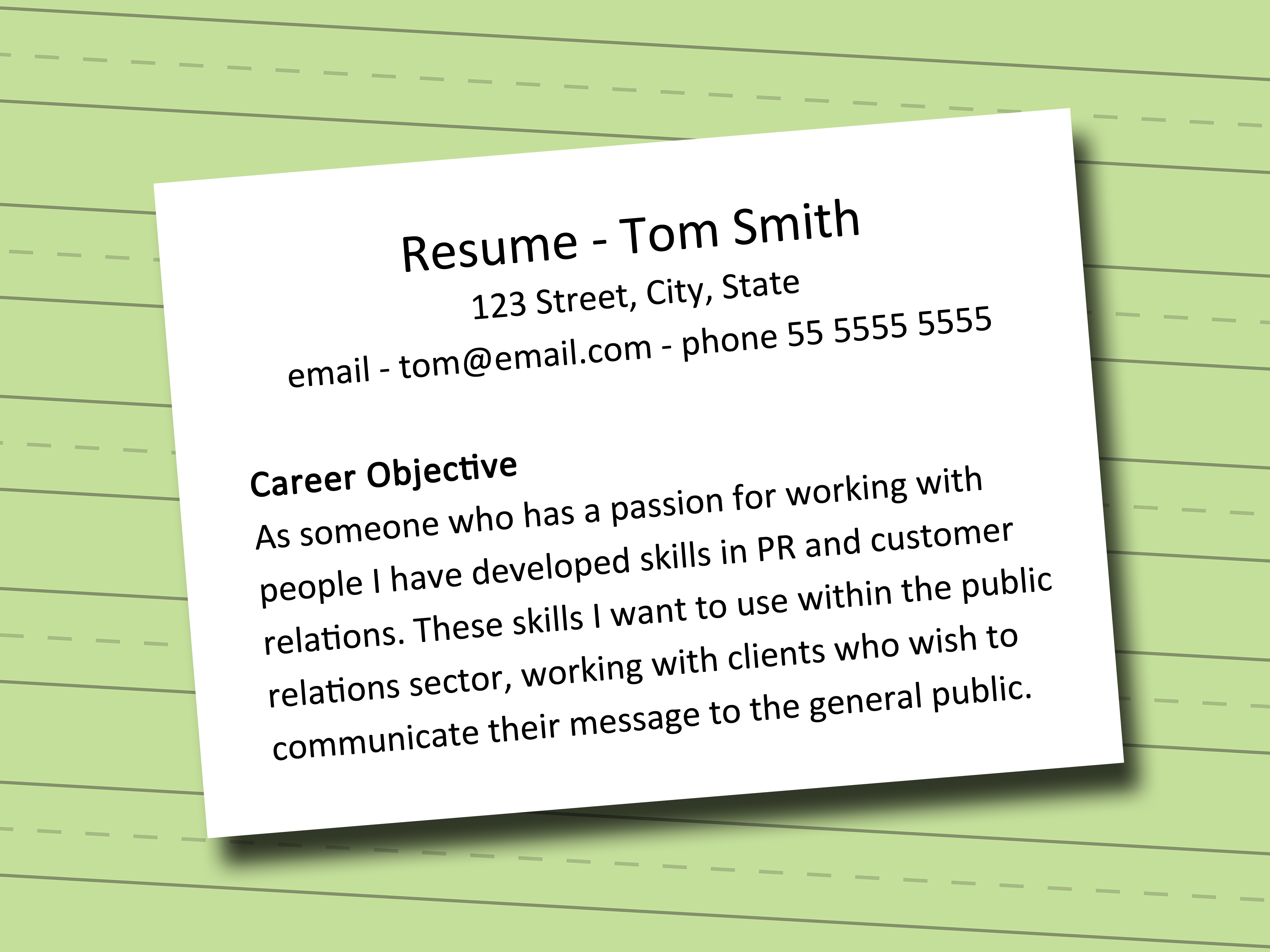 What To Write In Objective In Resume How To Write A Career Objective 5 Steps With Pictures