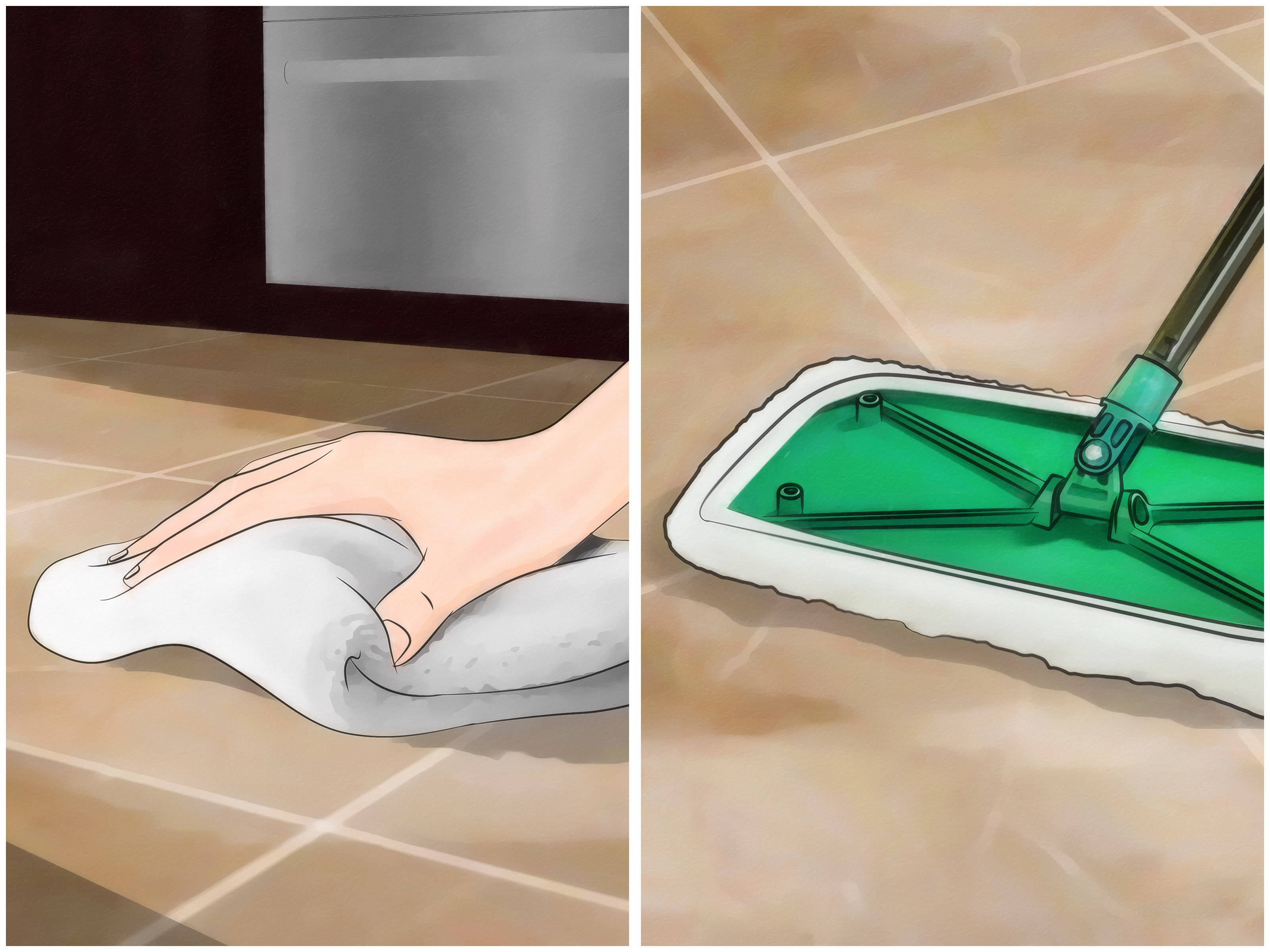 Best Way To Clean Bathroom 4 Ways To Clean Grout Between Floor Tiles Wikihow