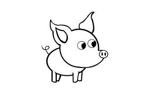 pig draw simple step steps
