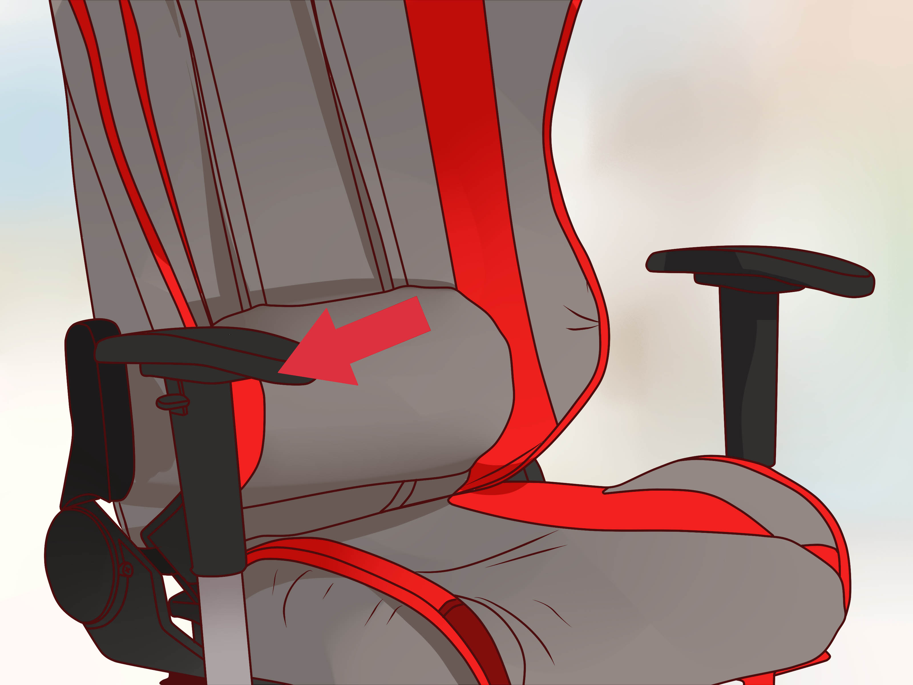 How To Adjust Office Chair How To Adjust An Office Chair With Pictures Wikihow