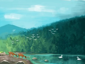 lake draw drawing wikihow peaceful simple step right drawings lakes steps depuis