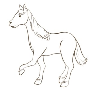 horse draw easy horses drawing simple cartoon clipart steps drawings head wikihow step animal quotes