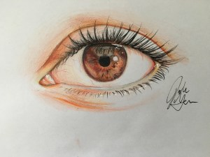 eye pencil colored drawing eyes draw wikihow sketch mata step pensil menggambar simple cara gambar occhio drawings zeichnen realistic auge