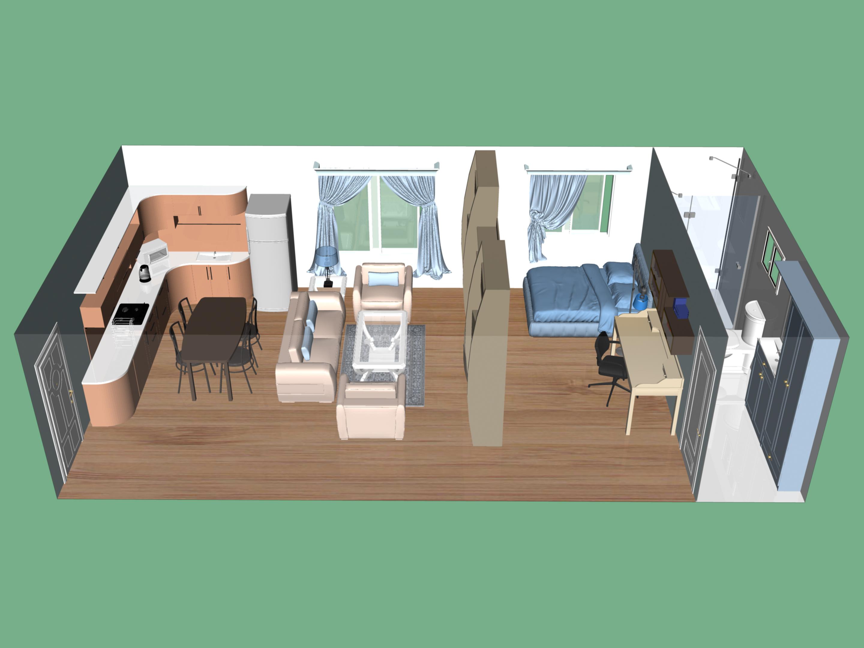 Ein Studio Apartment Einrichten