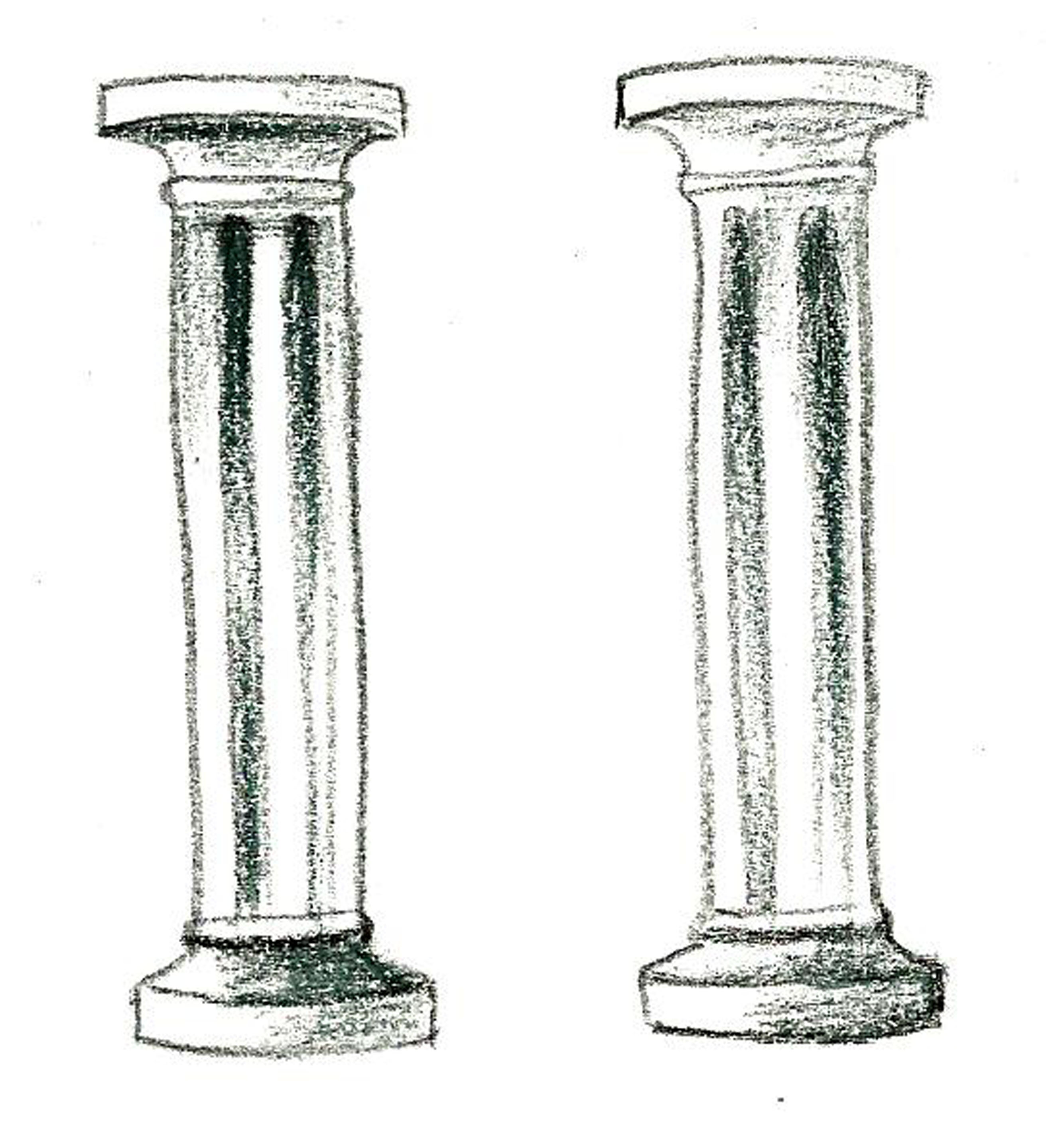How To Draw Pillar Columns Sketch Coloring Page