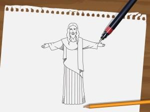 jesus draw god drawing steps cartoon step drawings too shading