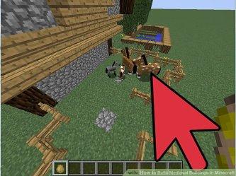 medieval minecraft buildings build step easy farm ways around