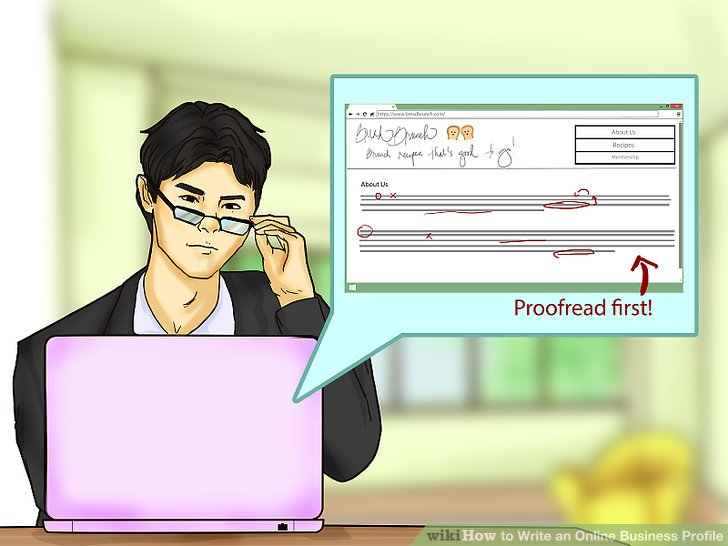 How To Write An Online Business Profile (with Pictures