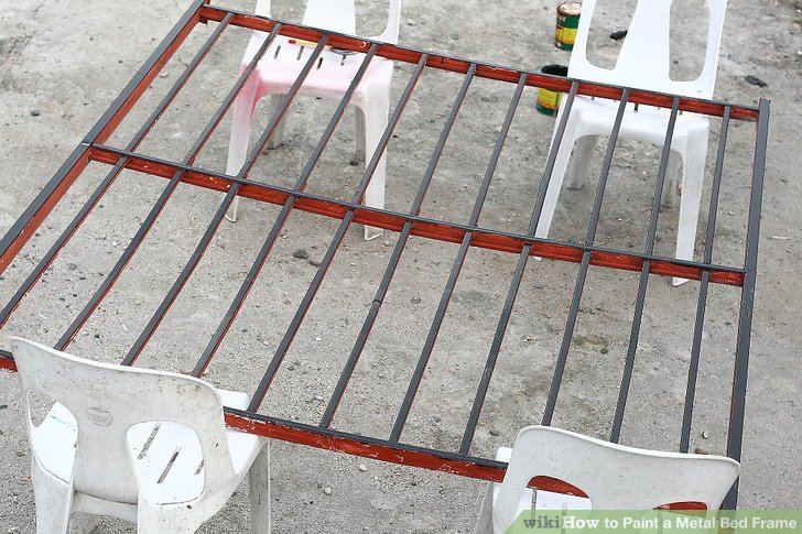 How To Paint A Metal Bed Frame (with Pictures)