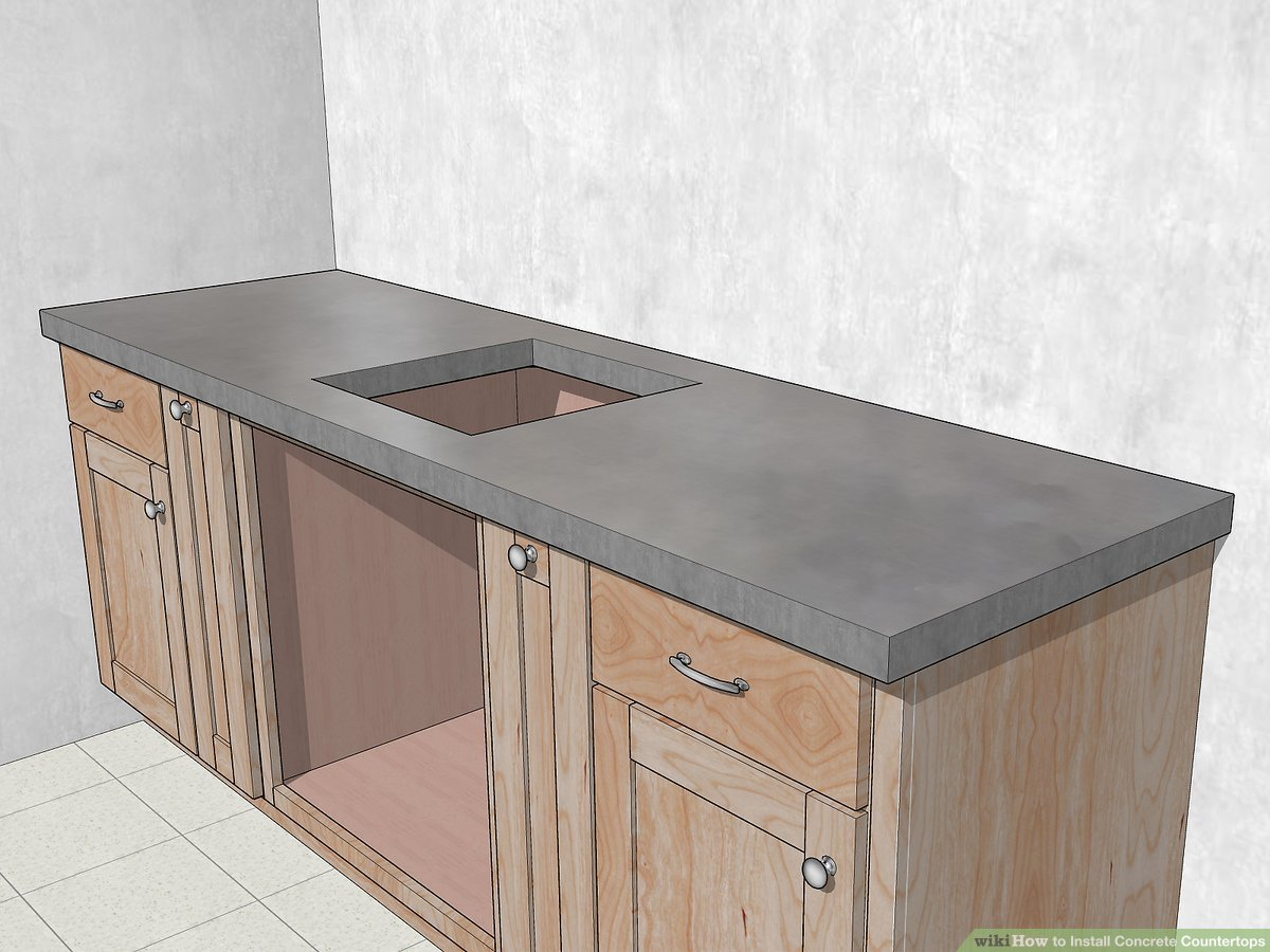 How To Install Concrete Countertops With Pictures Wikihow