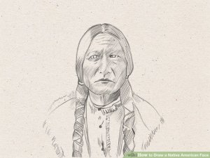 native draw american face sketches step steps eyes paintingvalley