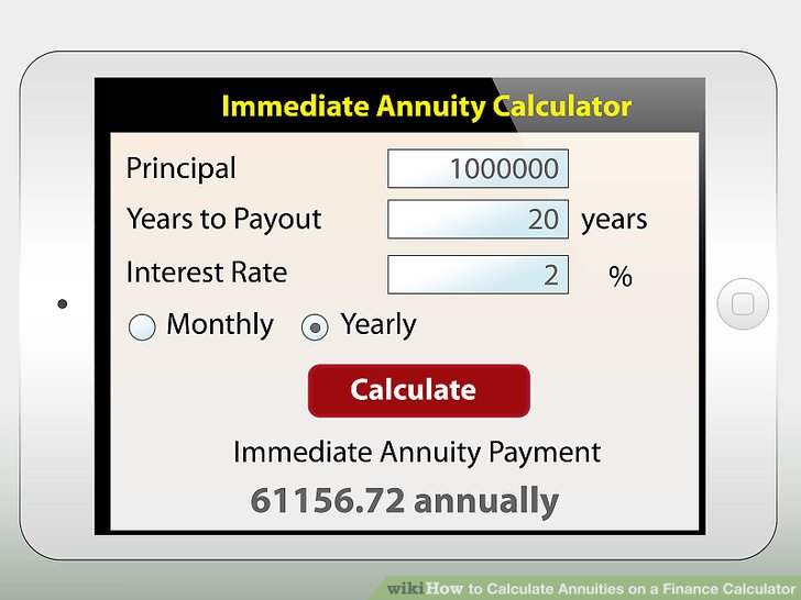 How To Calculate Annuities On A Finance Calculator 6 Steps