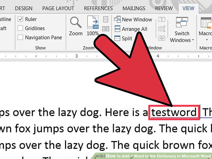 How To Add A Word To The Dictionary In Microsoft Word 9 Steps