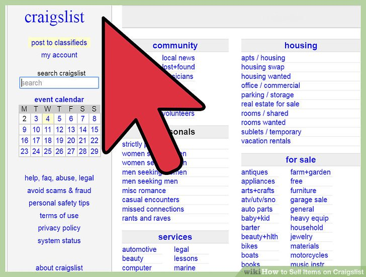 How To Sell Items On Craigslist 9 Steps (with Pictures