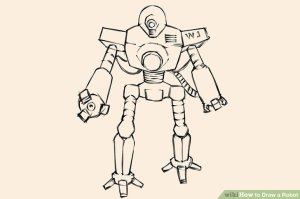 robot draw wikihow step drawing head chest ways