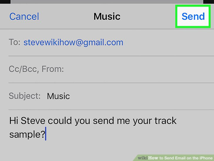 How To Send Email On The Iphone (with Pictures) Wikihow