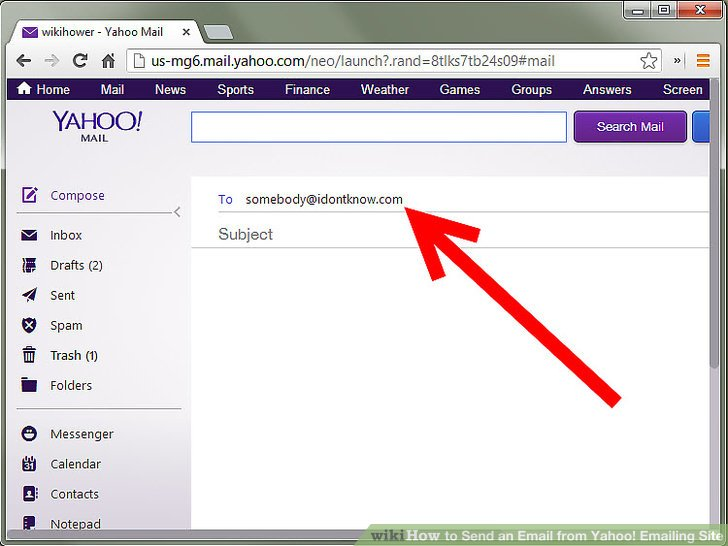 How To Send An Email From Yahoo! Emailing Site 6 Steps