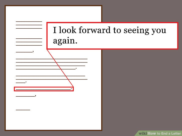How To End A Letter (with Sample Letter Closings)  Wikihow