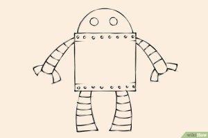 robot draw step drawing drawings tekenen een wikihow teken paintingvalley human dragon feet