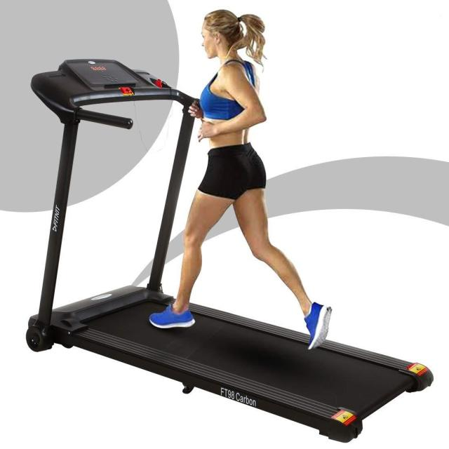 Fitkit FT98 carbon 1.25HP (2HP Peak) Motorized Treadmill