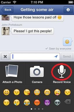 Voice message