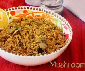 How To Prepare Spicy South Indian Mushroom Biryani