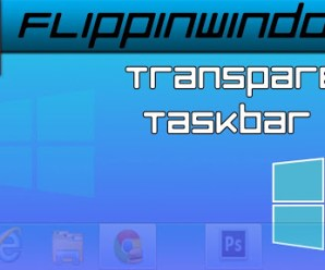 Change Taskbar Transparent For Windows 10