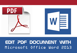How To Edit Pdf In Word