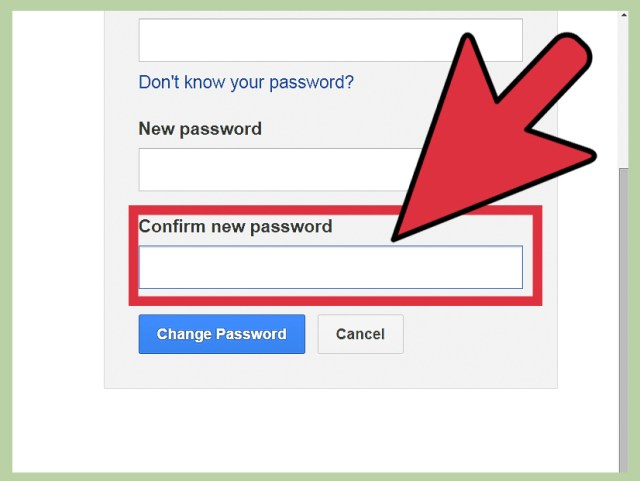 Change Your Gmail Password
