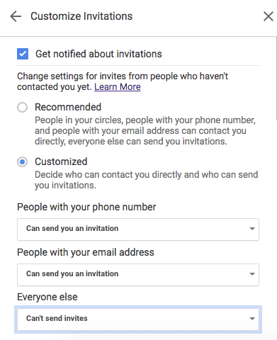 Stop Getting Unknown Invitations in Google Hangouts