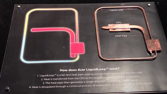 Acer Switch Alpha 12  Fanless liquid cooled