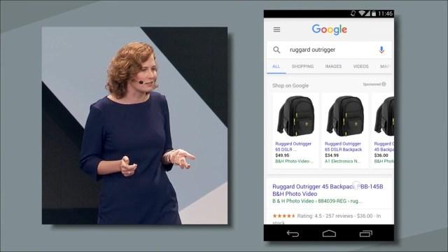 Google IO App Search results